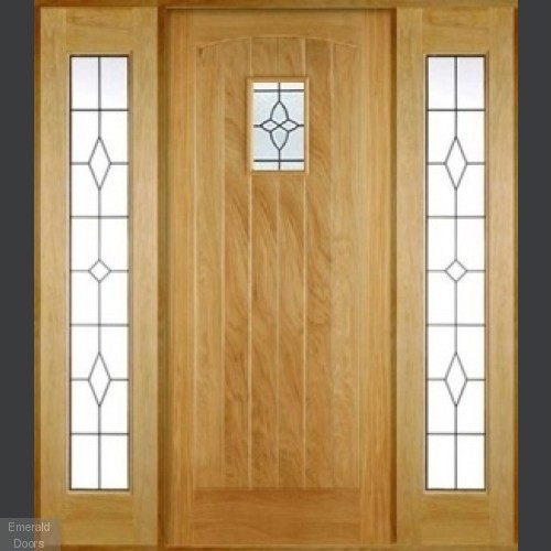 Oak Cottage Black Grand Entrance Doors