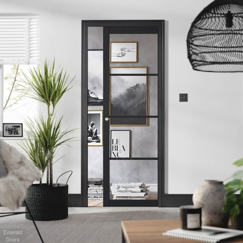 Charcoal Soho 4L Pocket Door System